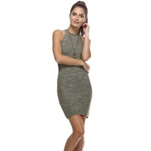 NWT Tea & Cup Green Fitted Knit Dress